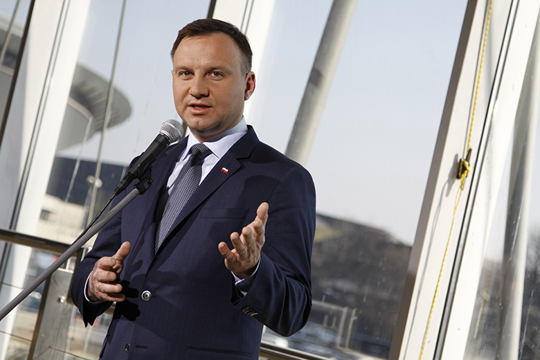 The President of the Republic of Poland - Andrzej Duda - in Katowice